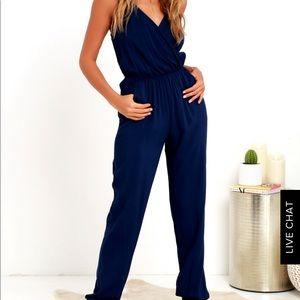 Lulu's Pants - Navy blue jumpsuit